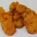 Battered Chicken Goujons in chilli sauce